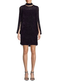 Akris Printed Mockneck Shift Dress