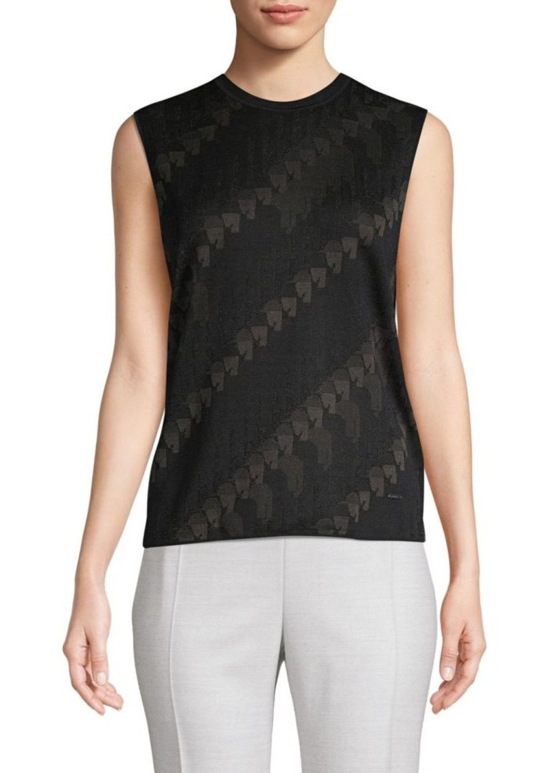 Akris Printed Silk-Blend Knit Tank