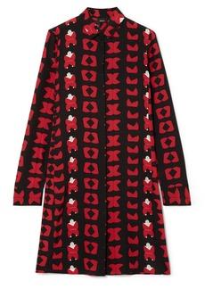 Akris Printed Silk Crepe De Chine Tunic