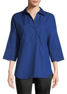 Akris Punto 3/4-Sleeve Kimono Blouse