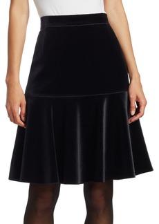 Akris Punto A-Line Velvet Skirt
