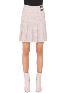Akris punto A-Line Pleated Tweed Mini Skirt
