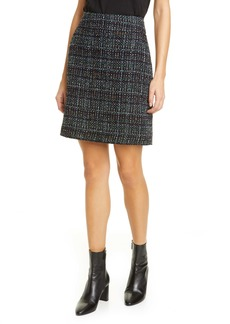 Akris punto A-Line Tweed Miniskirt