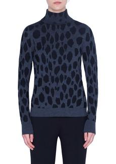 Akris punto Animal Dot Jacquard Wool Sweater