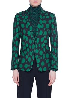 Akris punto Animal Dot Print Wool Jersey Jacket