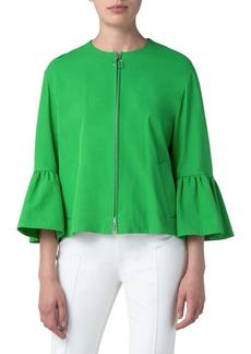 Akris punto Bell Sleeve Stretch Gabardine Jacket