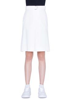 Akris punto Belted A-Line Gabardine Skirt