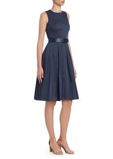 Akris Punto Belted A-Line Shirt Dress