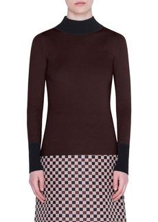 Akris punto Bicolor Wool Sweater