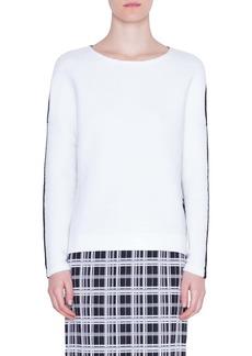 Akris punto Bicolor Zip Detail Sweater