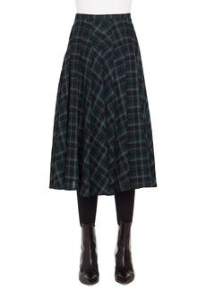 Akris punto Brit Check Midi Skirt