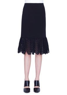 Akris punto Broderie Anglaise Hem Skirt