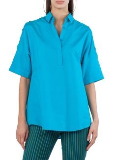 Akris punto Button Shoulder Kimono Blouse