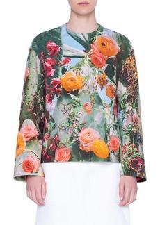 Akris punto Cactus Blossom Print Jacket