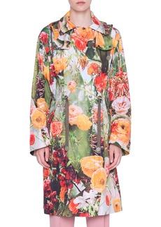 Akris punto Cactus Blossom Print Hooded Parka