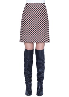 Akris punto Check Jacquard Mini Skirt