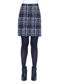 Akris punto Check-Jacquard Pencil Skirt