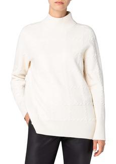 Akris punto Check Wool Blend Sweater