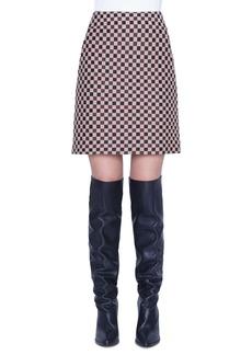 Akris punto Chess Check Jacquard Miniskirt
