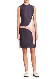 Akris Coastal Chart Print Sleeveless Dress