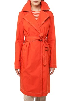 Akris punto Contrast Stitch Trench Coat