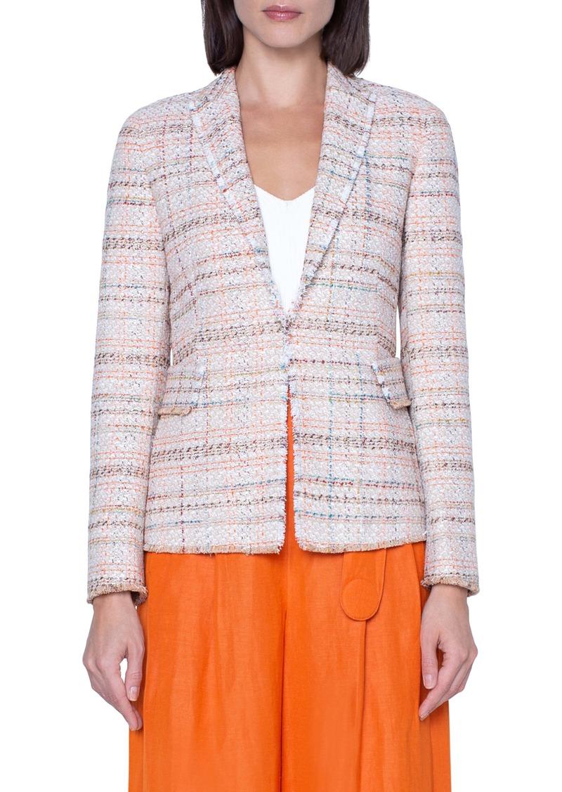 Akris punto Cotton Blend Tweed Blazer