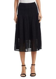 Cotton Punto Lace Midi Skirt