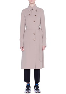 Akris punto Crepe Trench Coat