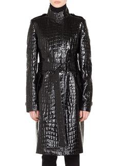 Akris punto Croc Embossed Faux Patent Leather Jacket