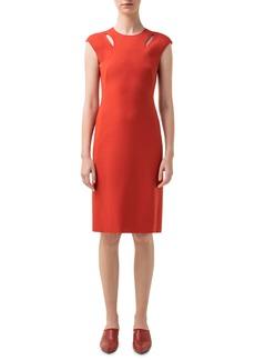 Akris punto Cutout Jersey Sheath Dress