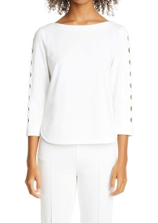 Akris punto Cutout Sleeve Top