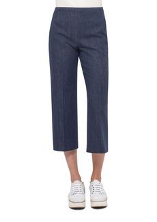Akris punto Denim Side-Zip Culotte Pants