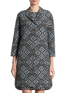 Akris punto Diamond Jacquard Zip Jacket