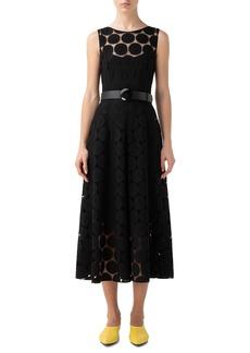 Akris punto Dot Lace Sleeveless Dress