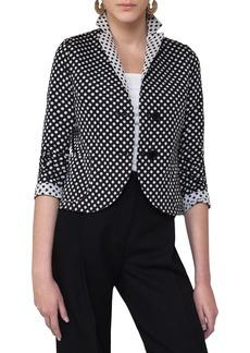 Akris punto Dot Print Reversible Blazer