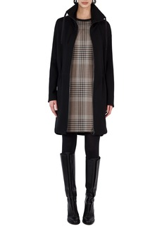 Akris punto Drawstring Stretch Wool Coat