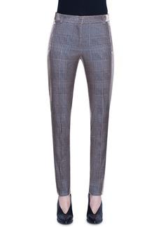 Akris punto Fabia Metallic Glen Checked Jersey Pants