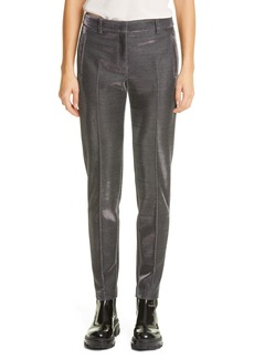 Akris punto Fabia Metallic Pinstripe Jersey Pants