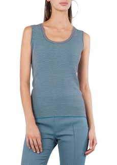 Akris punto Fantasy Jacquard Scoop-Neck Tank