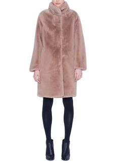 Akris punto Faux Fur Coat