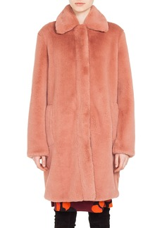 Akris punto Faux Fur Coat