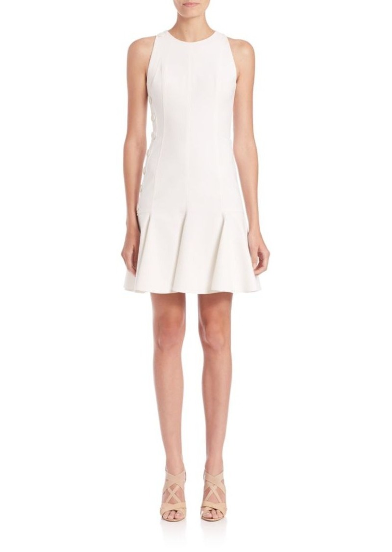 Akris punto Faux-Halter Button Jersey Dress