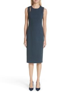 Akris punto Faux Leather Shoulder Dress (Nordstrom Exclusive)
