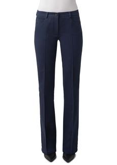 Akris punto Faye Pintucked Bootcut Stretch Denim Jeans