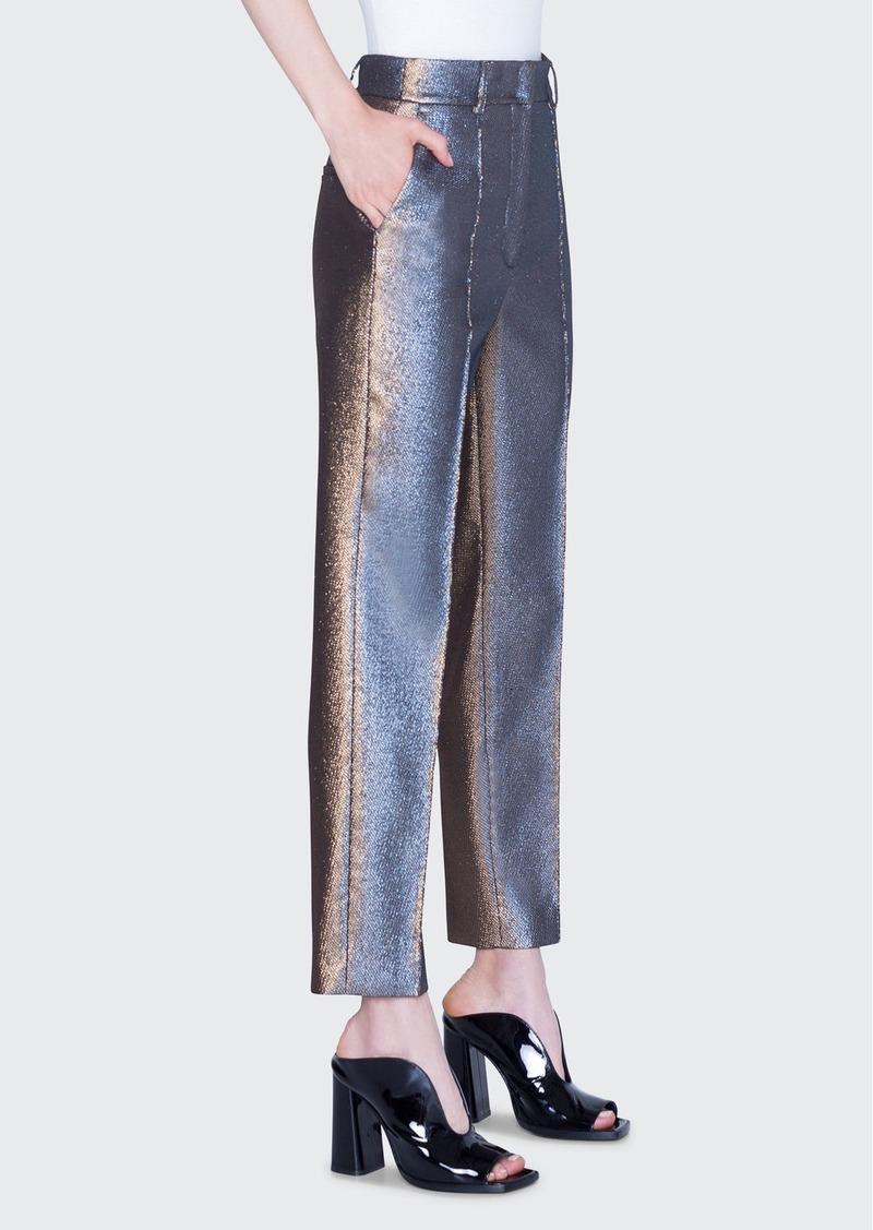 Akris punto Ferry Iridescent Golden Pants
