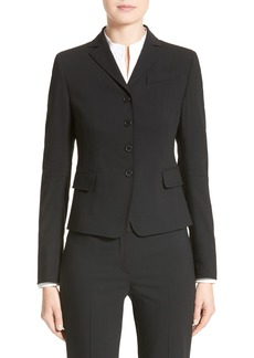 Akris punto Fitted Wool Jacket