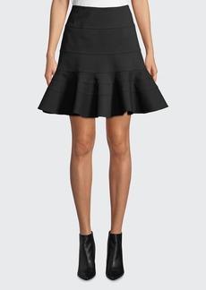 Akris punto Flippy Seamed-Jersey Skirt