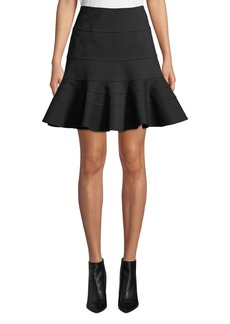 Akris punto Flippy Seamed-Jersey Skirt