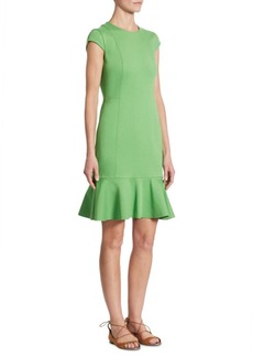 Akris Flounce Sheath Dress
