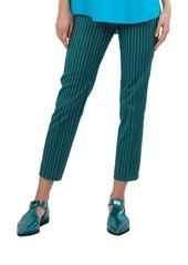 Akris punto Franca Striped Stretch-Cotton Pants